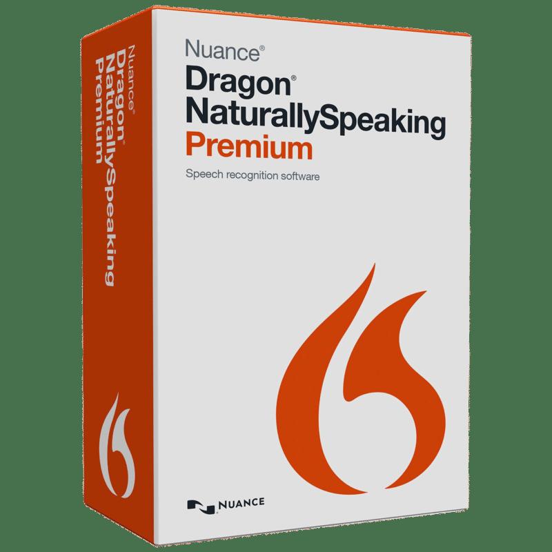 Box shot of Dragon NaturallySpeaking Premium