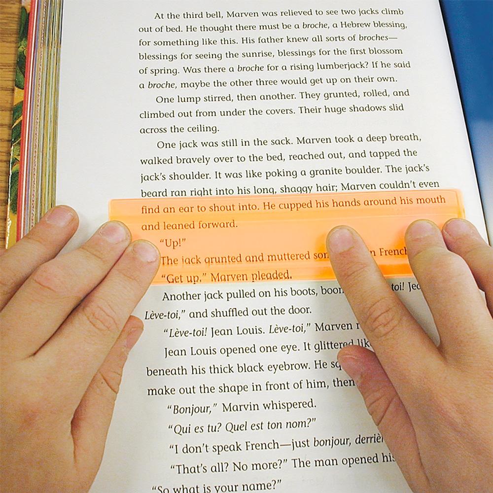 2x Orange Duo Window Reading Ruler