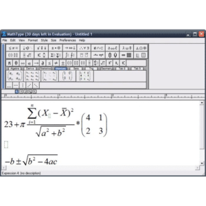 Screenshot from MathType