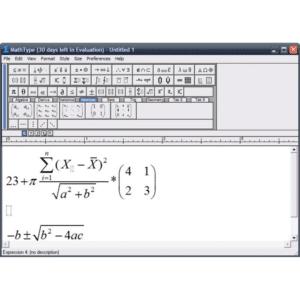 Screenshot from MathType