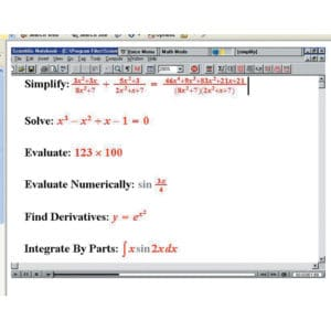 Screenshot from MathTalk