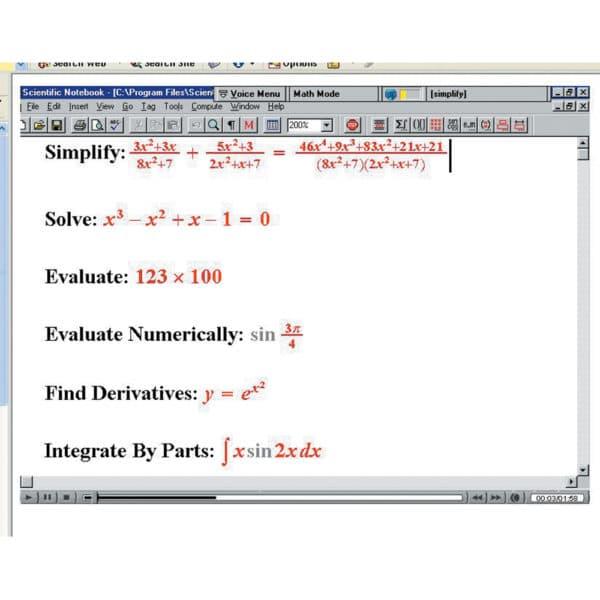 Screenshot from MathTalk