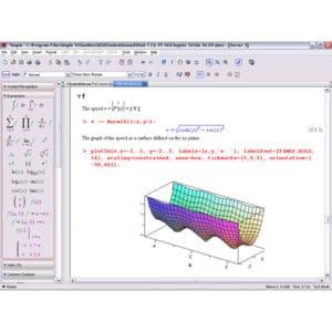 Screenshot from Maple Software